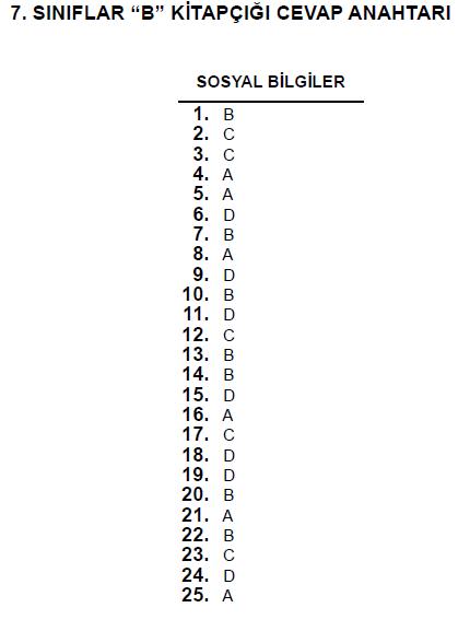 7. Sınıf PYBS - Bursluluk Cevap Anahtarı - 10 Haziran 2012 9