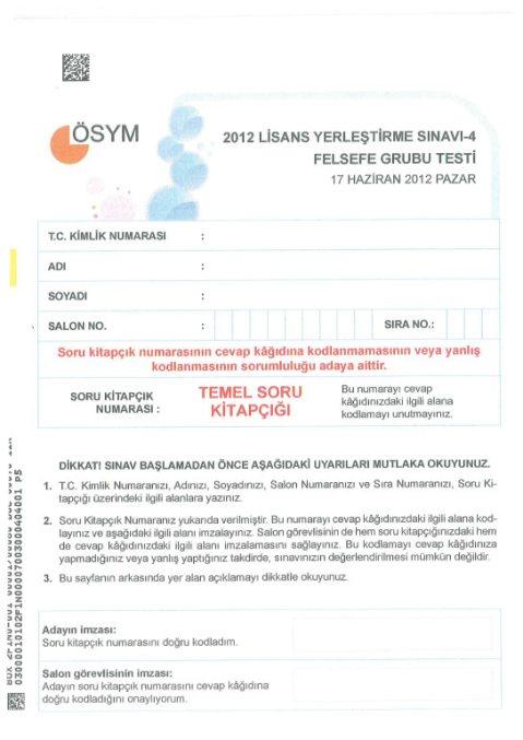2012 LYS-4 Sosyal Bilimler Cevap Anahtarı 9