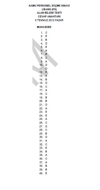 2012 Hukuk-İktisat-İşletme-Maliye-Muhasebe Testi ve Cevap Anahtarı 6