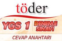11-12 Kasım Töder YGS Sınavı Cevap Anahtarı 1