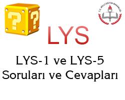 16 Haziran 2013 LYS-1 (Matematik-Geometri) Cevap Anahtarı 1