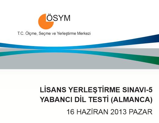16 Haziran 2013 LYS-5 Yabancı Dil Cevap Anahtarı 1
