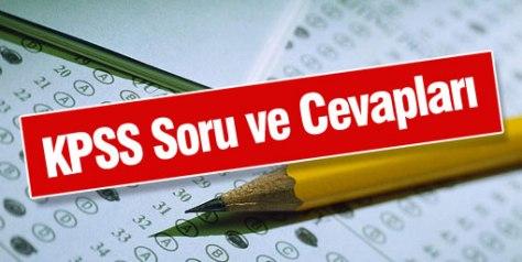 2013 KPSS Öğretmenlik Alan Bilgisi (ÖABT) Sınavı Cevap Anahtarı 1