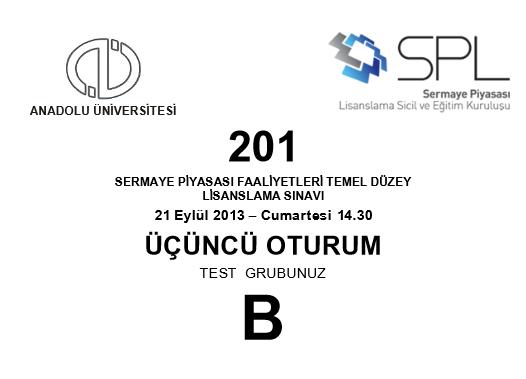 21-22 Eylül 2013 SPK Sınavı Cevapları 12
