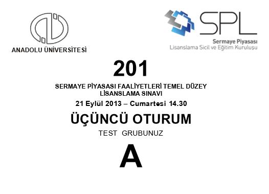 21-22 Eylül 2013 SPK Sınavı Cevapları 9