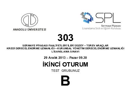 28-29 Aralık 2013 SPK Sınavı Cevapları 11