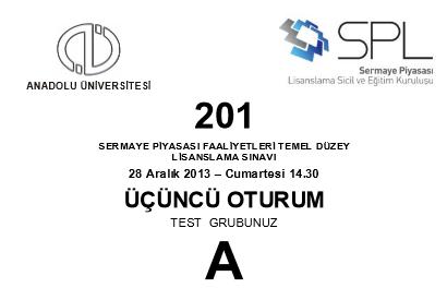 28-29 Aralık 2013 SPK Sınavı Cevapları 5