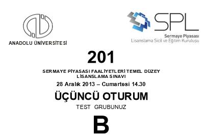 28-29 Aralık 2013 SPK Sınavı Cevapları 7