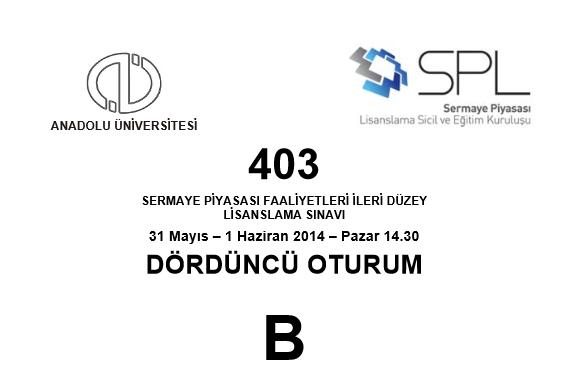2014 SPK Sınavı Cevapları 15