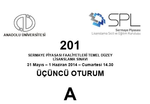 2014 SPK Sınavı Cevapları 5
