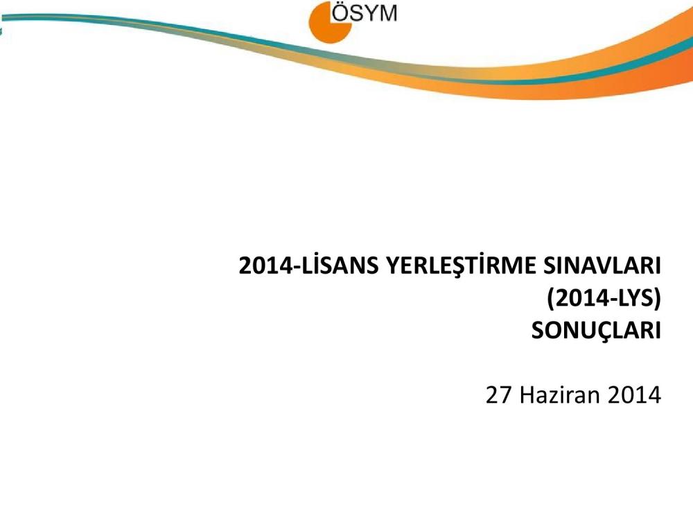 2014 LYS Sayısal Bilgiler 1. Bölüm 1