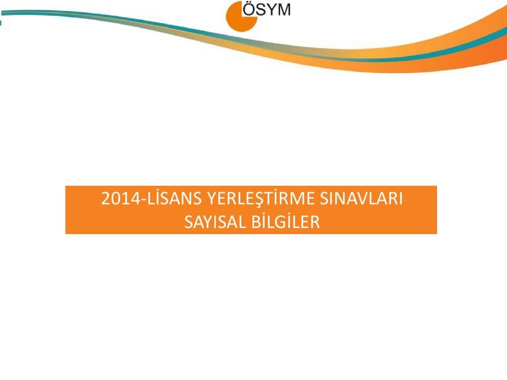2014 LYS Sayısal Bilgiler 1. Bölüm 2