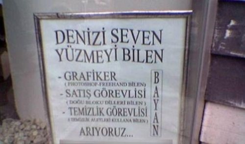 Türkiye'den komik ilanlar 10