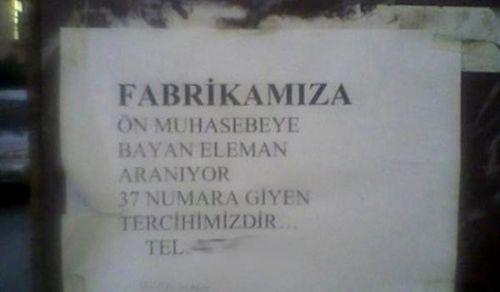 Türkiye'den komik ilanlar 11