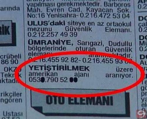 Türkiye'den komik ilanlar 12