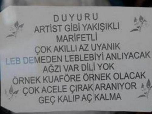 Türkiye'den komik ilanlar 13