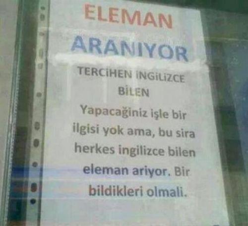Türkiye'den komik ilanlar 2