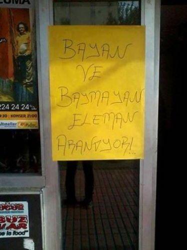 Türkiye'den komik ilanlar 8