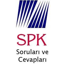 20-21 Aralık 2014 SPK Sınavı Cevap Anahtarı 2
