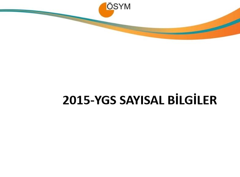 2015 YGS Sayısal Bilgiler 1