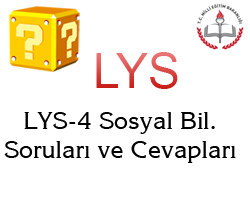 LYS-4 Cevap Anahtarı 1