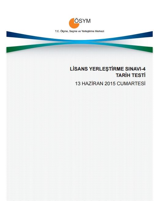 2015 LYS-4 Sosyal Bilimler Sınav Soruları ve Cevap Anahtarı 1