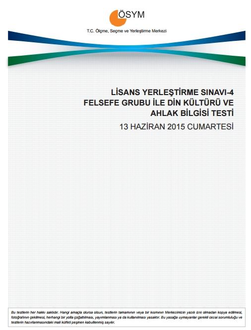 2015 LYS-4 Sosyal Bilimler Sınav Soruları ve Cevap Anahtarı 11