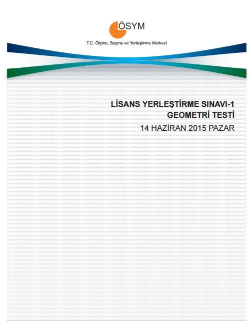2015 LYS-1 (Matematik-Geometri) Soru ve Cevap Anahtarı 11