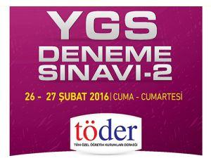 26-27 Şubat 2016 Töder YGS-2 Sınav Soruları ve Cevap Anahtarı