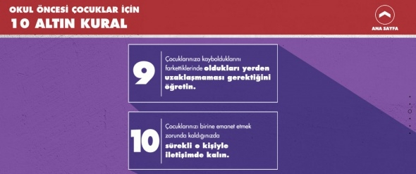 Çocukların Kaybolmasını Önleyecek 10 Altın Kural 4