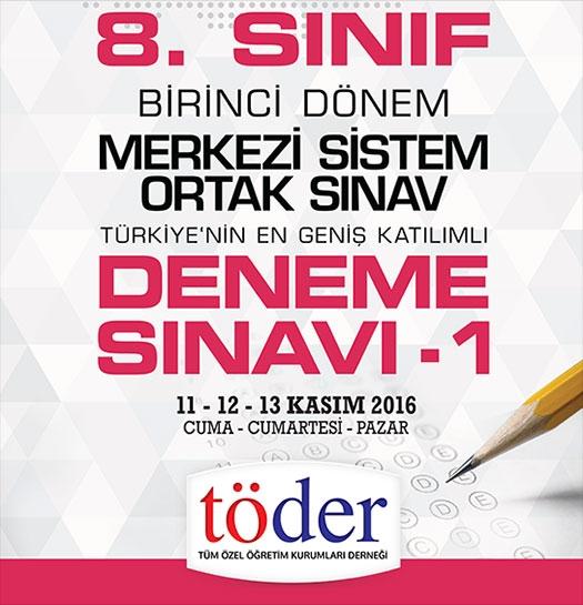 Kasım 2016 Töder TEOG Sınav Soruları ve Cevap Anahtarı 1