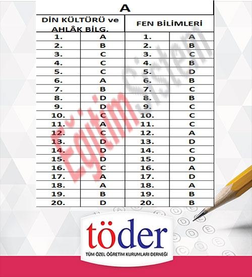 Kasım 2016 Töder TEOG Sınav Soruları ve Cevap Anahtarı 3