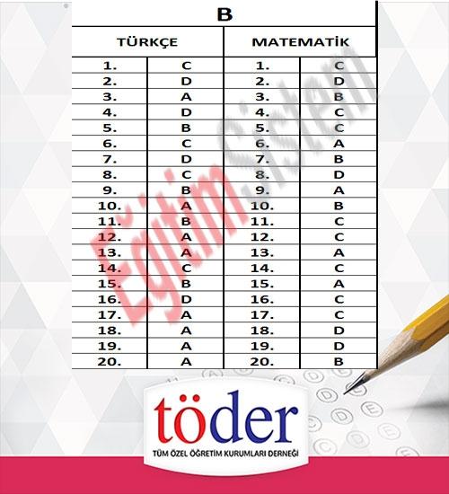 Kasım 2016 Töder TEOG Sınav Soruları ve Cevap Anahtarı 6