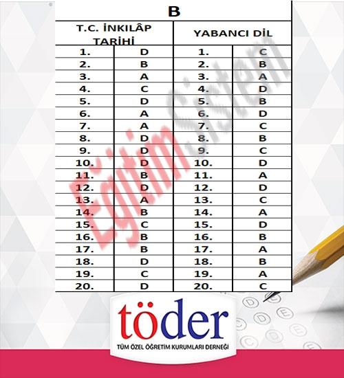 Kasım 2016 Töder TEOG Sınav Soruları ve Cevap Anahtarı 8