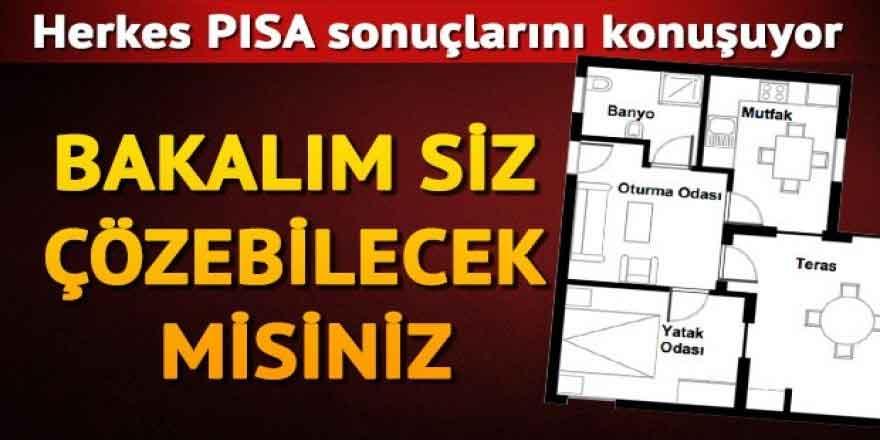 Bakalım PISA sorularını siz çözebilecek misiniz