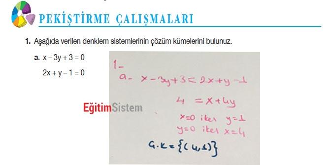 11. Sınıf Matematik Sayfa 108-109 Cevapları 1