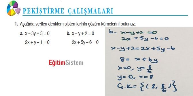 11. Sınıf Matematik Sayfa 108-109 Cevapları 2