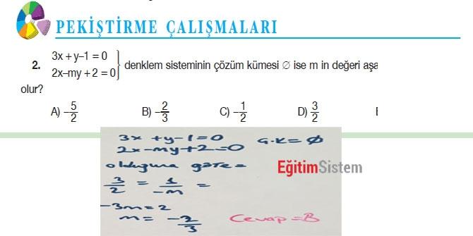 11. Sınıf Matematik Sayfa 108-109 Cevapları 4