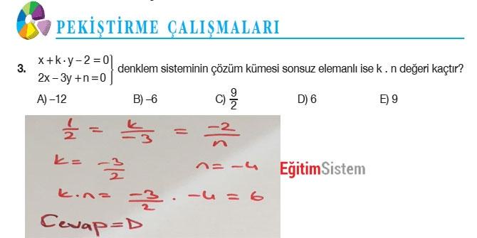 11. Sınıf Matematik Sayfa 108-109 Cevapları 5
