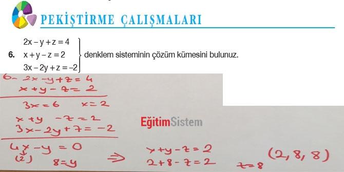 11. Sınıf Matematik Sayfa 108-109 Cevapları 8