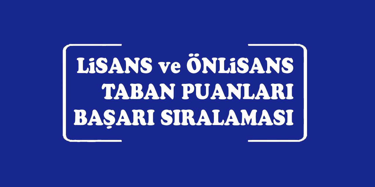 Bilecik Şeyh Edebali Üniversitesi Taban Puanları ve Bölümleri