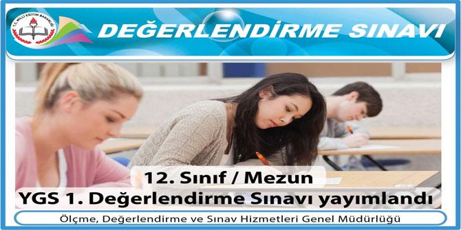 MEB YGS 1. Değerlendirme Sınavı Soruları ve Cevap Anahtarı