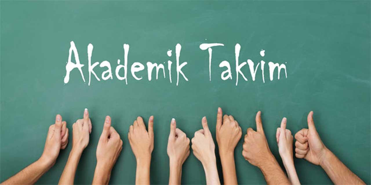 Nuh Naci Yazgan Üniversitesi Akademik Takvim