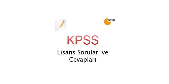 2011 KPSS Lisans Soru Ve Cevapları