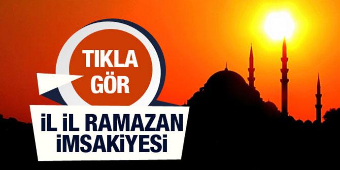 İstanbul Ramazan İmsakiyesi