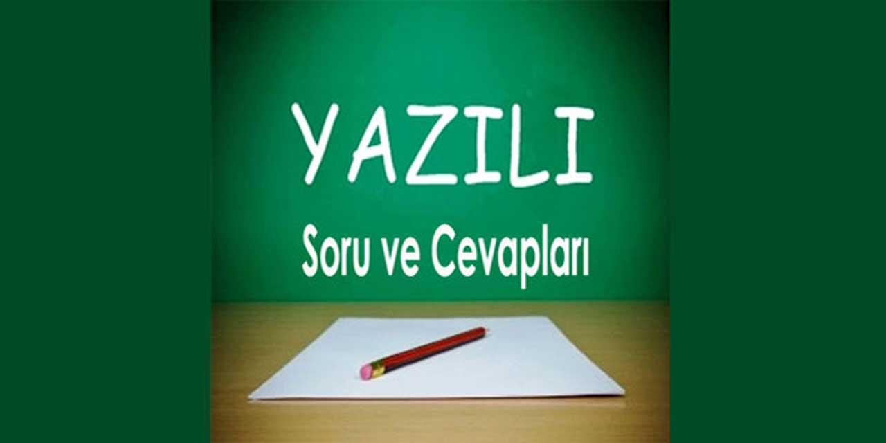 7. Sınıf Türkçe 2. Dönem 2. Yazılı Soruları (I)