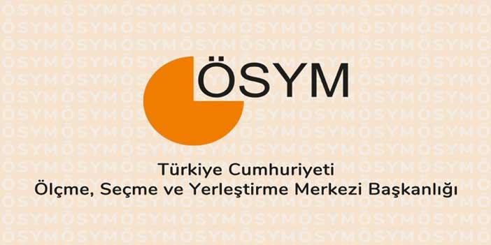 2017 ÖSYM Sınav Takvimi yayınlandı