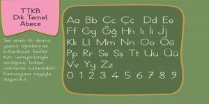 TTKB Dik Temel Abece Yazı Fontu