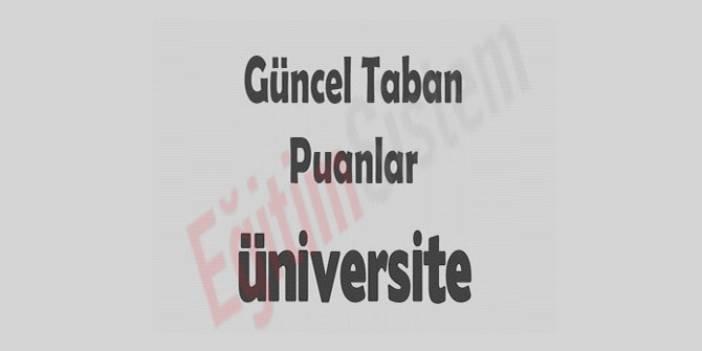 2013-2014 Üniversitelerin Taban Puanları