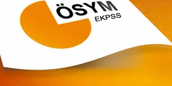 EKPSS 2016 Tercih ve Yerleştirme Takvimi açıklandı